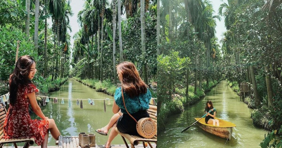 把整座雨林搬進咖啡廳!泰國《After the Rain Coffee Gallery》竟然還能在河裡划船?