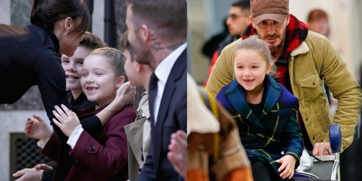 【紐約時裝周】全家現身支持維多利亞大秀!貝克漢依舊露出「女兒傻瓜」本性