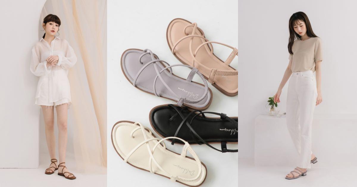 D+AF線上購物推薦5款涼鞋,方頭中跟會繼續紅下去,秒殺倒數奶茶色最欠買