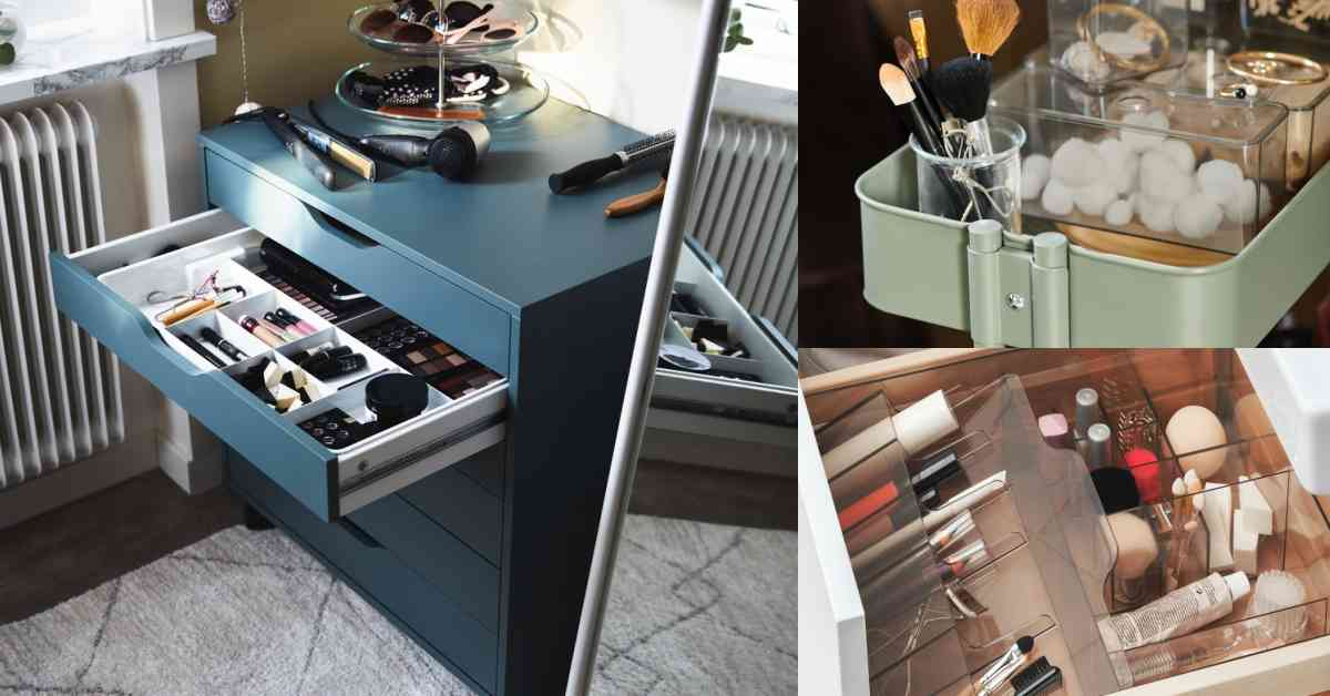 Ikea平價「彩妝收納」推薦Top5!「收納筒」只要20元有找、「Alex抽屜櫃」風靡歐美和台灣!