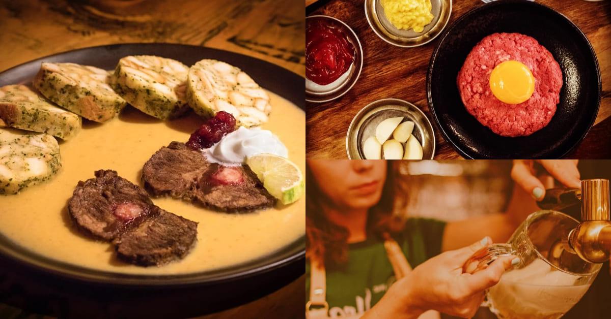 台北「捷克公寓 」全台唯一捷克餐酒館,道地「燉牛肉佐麵糰子」只在信義區吃得到