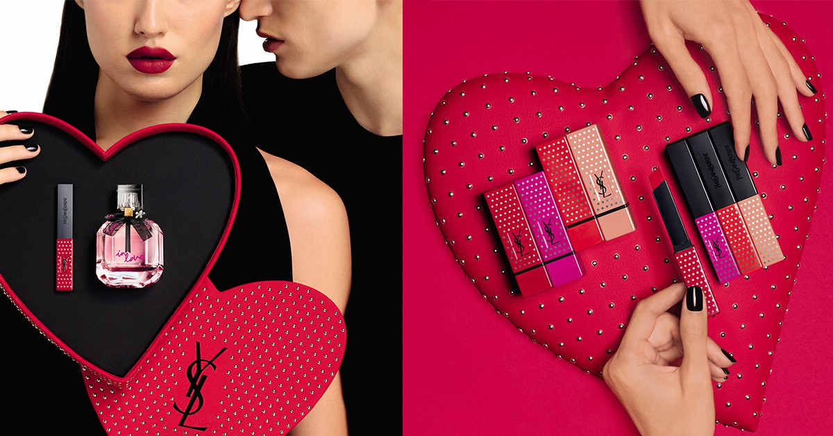 情人節限定!YSL愛心點點禮盒可愛到爆,限量絲絨唇膏、淡香水