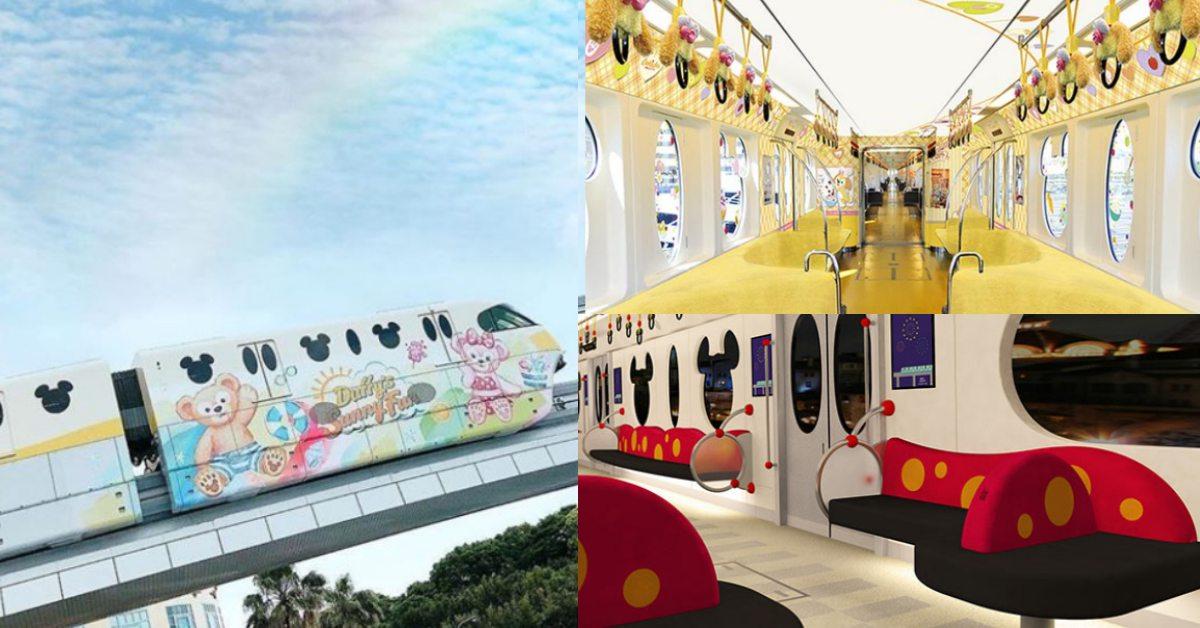 達菲列車進攻東京迪士尼、米奇彩繪列車換新裝!毛茸茸手把、全黃車廂可愛破表
