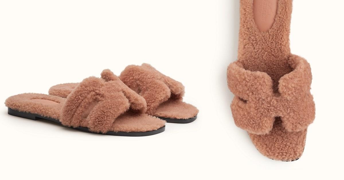 Hermès第一件單品推薦它!熱賣24年Oran Sandal拖鞋套上毛毛裝 ,珊瑚粉配色準備瘋搶!