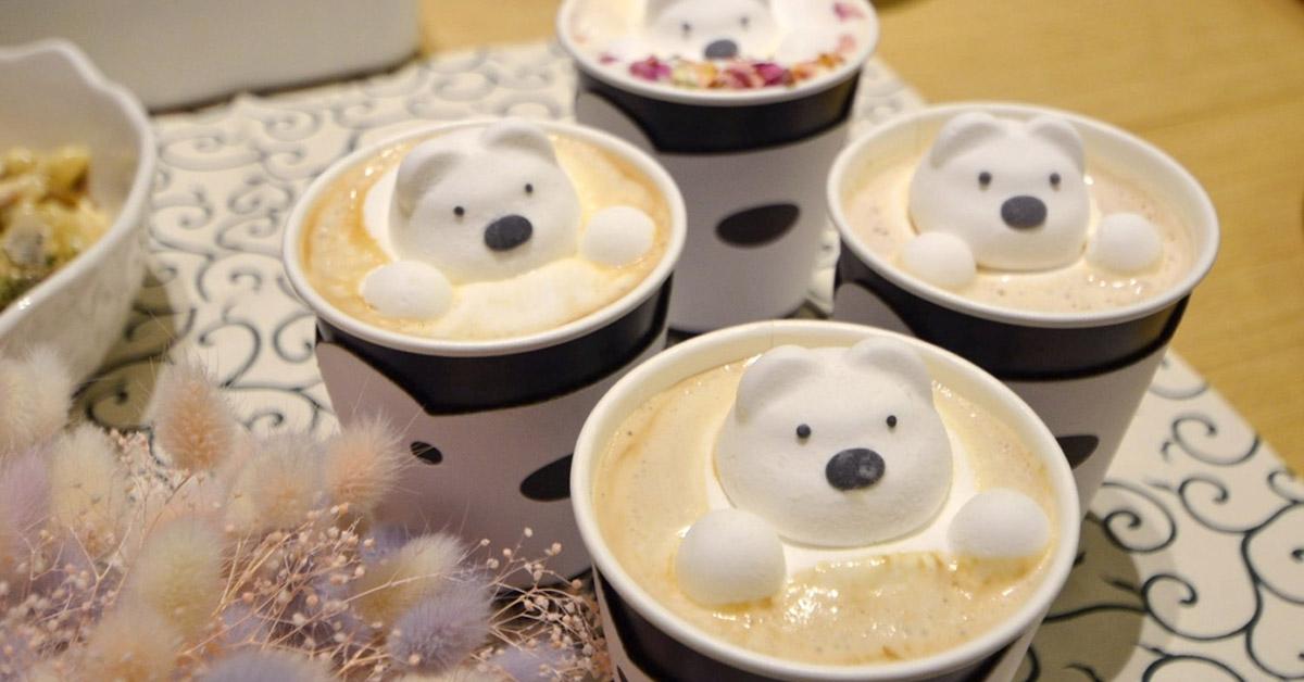 【揪食。愛玩專欄】打中妳的夢幻少女心!「POLAR CAFE」漂浮在拿鐵上的北極熊、超Q的裝飾,從店外到店內都超、好、拍!
