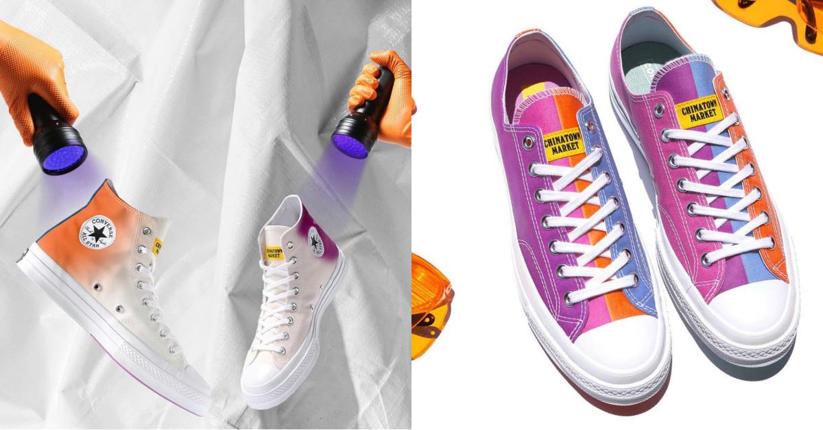 Converse聯名款會變色!全新霓光All Star照光就會變七彩,3款翻轉對球鞋的想像
