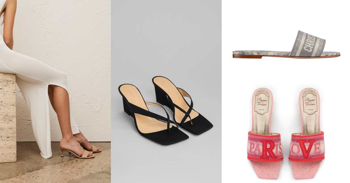 誰說拖鞋都很邋遢!這 10 雙方頭、穆勒的時髦鞋款,讓妳從度假到上班都能穿!