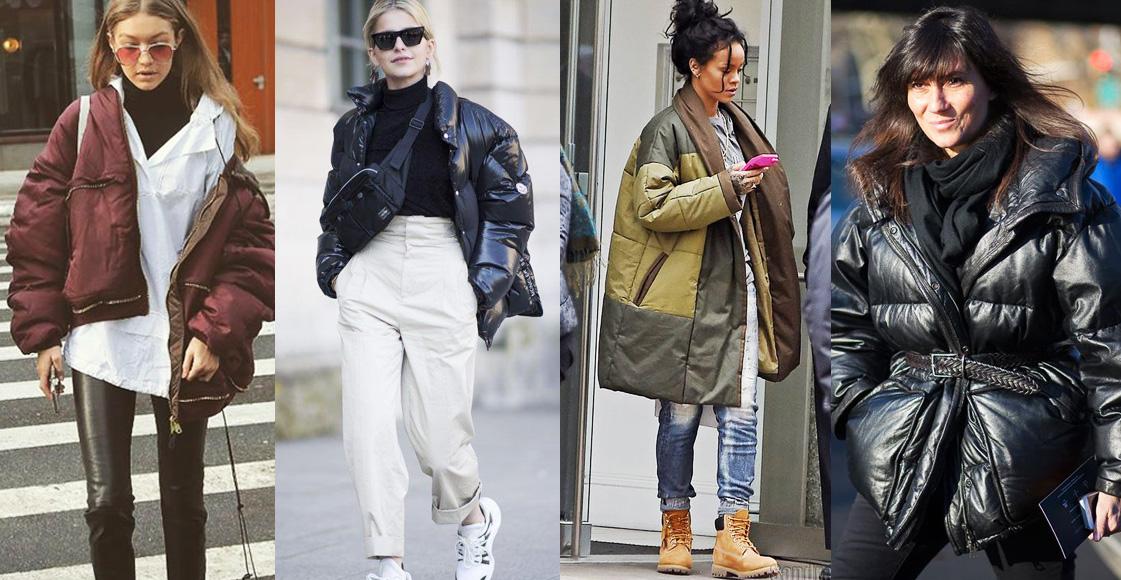 學習Gigi與蕾哈娜時髦的羽絨外套穿搭示範,「這4種」顯瘦方法絕對受用!
