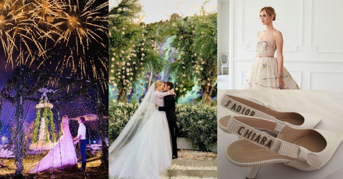 搭專屬客機、訂製婚紗、煙火慶祝!回顧地表最強部落客Chiara Ferragni的世紀婚禮
