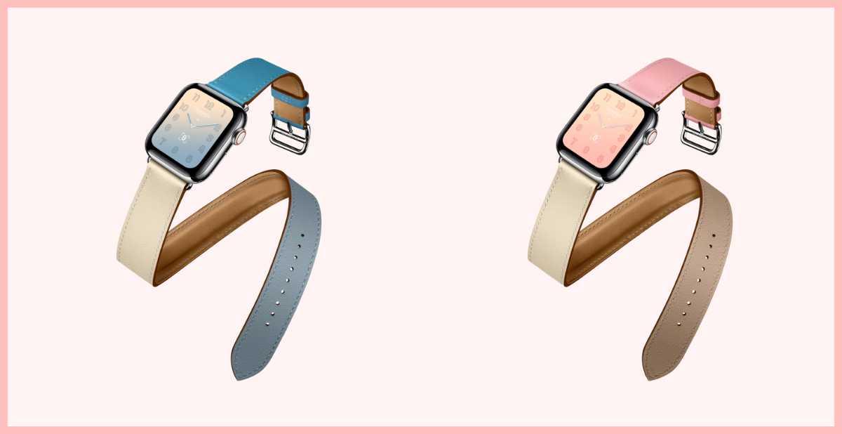 櫻花粉、漸層藍新色!愛馬仕Apple Watch第四代粉色系錶帶太夢幻