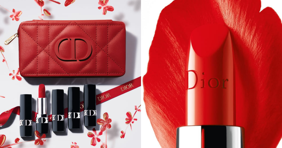 Dior唇膏快被它比下去!紅色皮革唇膏包春節限定登場,千元入手2021開運隨身小物