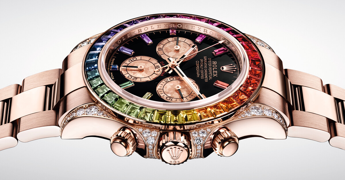【2018巴塞爾錶展新訊日報】錶王一出手,絕對是話題!勞力士將眾名人都愛的經典錶款鑲上一圈「彩虹」,驚艷2018 BASEL錶展!