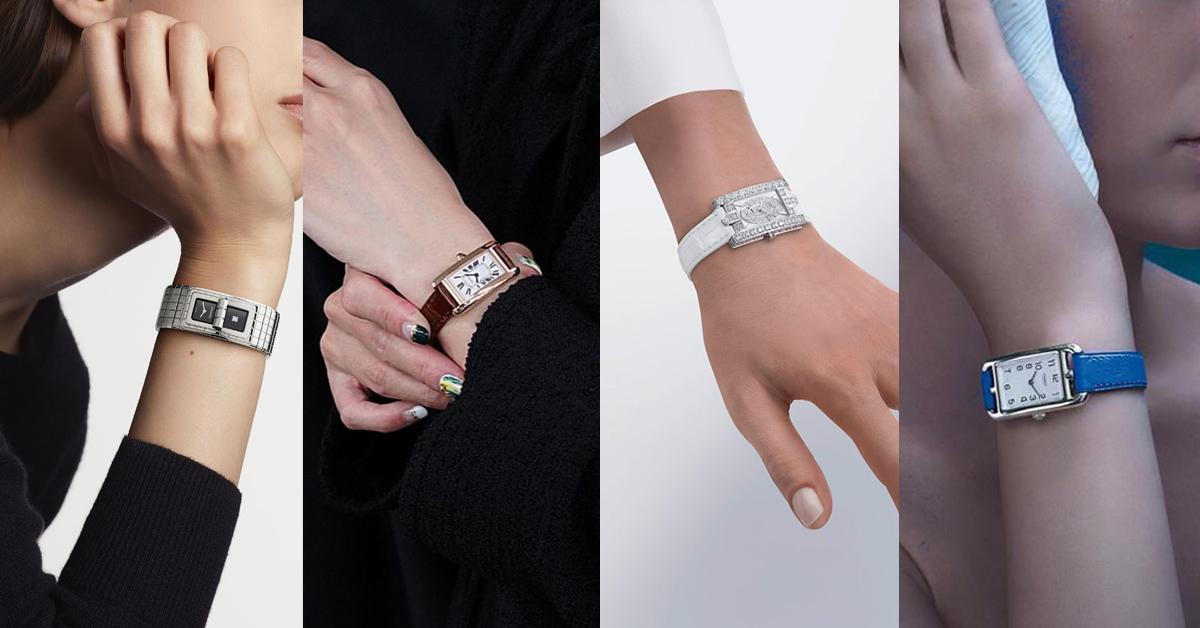 「長方形錶」推薦Top 6!Cartier、Chanel、Hermès....優雅指數完勝方形與圓形錶