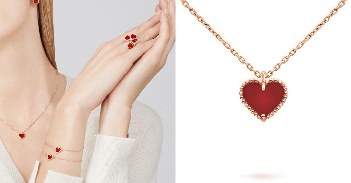 Van Cleef & Arpels珠寶首選!「四葉草」變愛心太可愛,西洋情人節打造限定單品