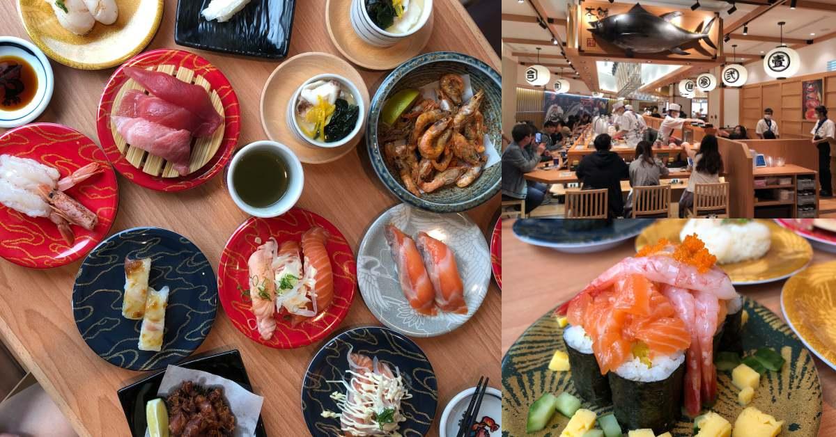 北車美食再+1!超夯迴轉壽司《合點壽司》京站也能吃到!超鮮美甜蝦、鮭魚壽司新鮮現做