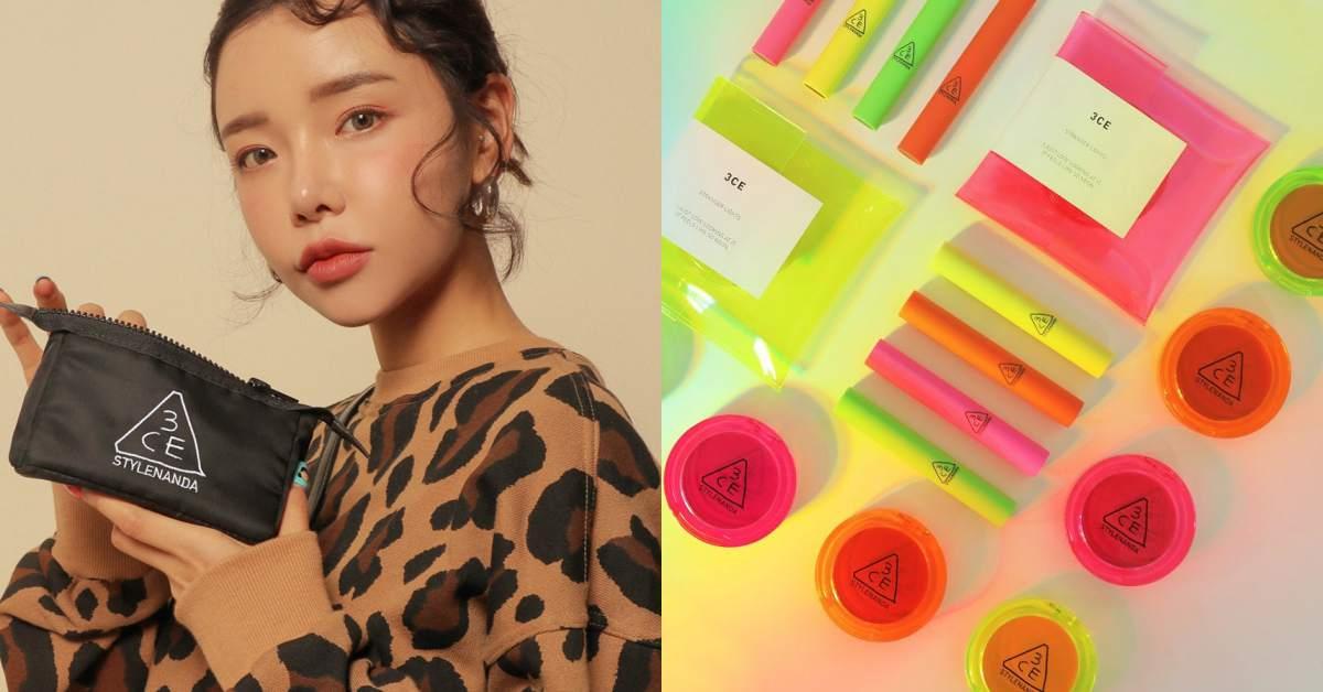 預告韓國代購直接爆單!3CE即將上市「螢光彩妝組」,準備搶起來!