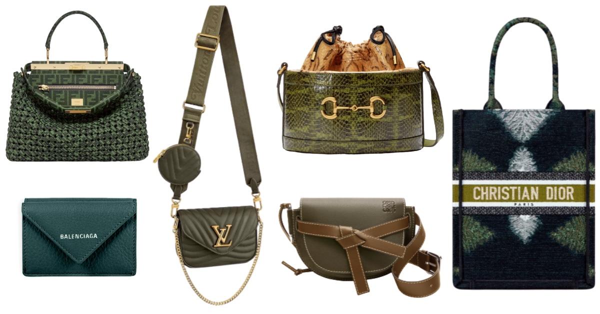 2020秋冬配件「綠」到不行!LV、Dior、Loewe...12款「深山綠」包,顯白度完勝大地色!