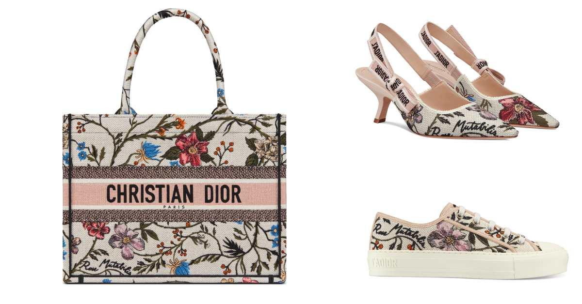 Dior刺繡系列也太仙!熱賣「托特包」到秒殺「小白鞋」全都換上花朵圖案美翻了~