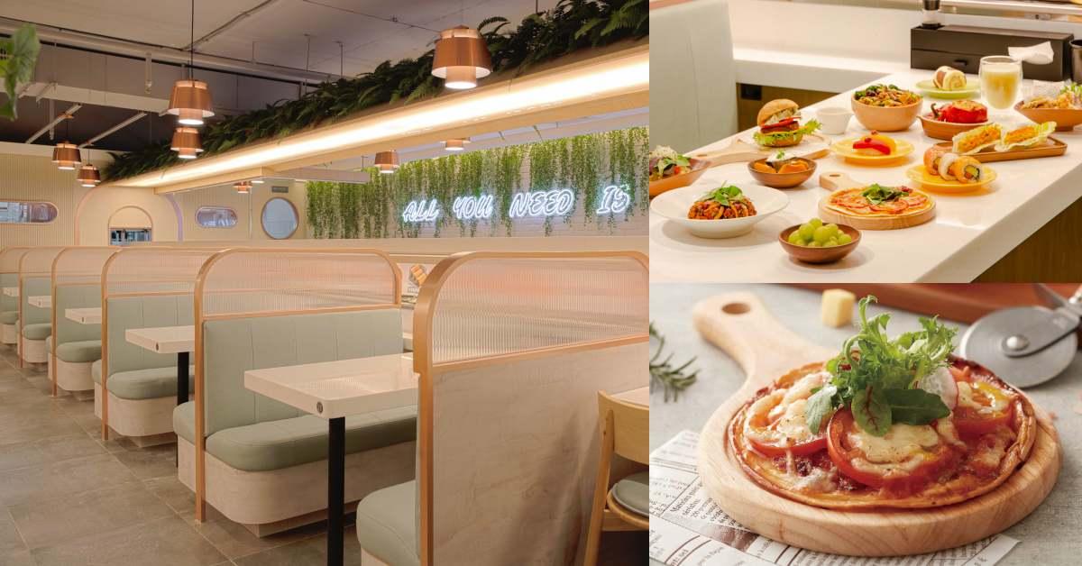 爭鮮迴轉壽司改賣「蔬食」?新品牌「爭先食蔬」全台唯一開在桃園,130道料理完全素食天堂