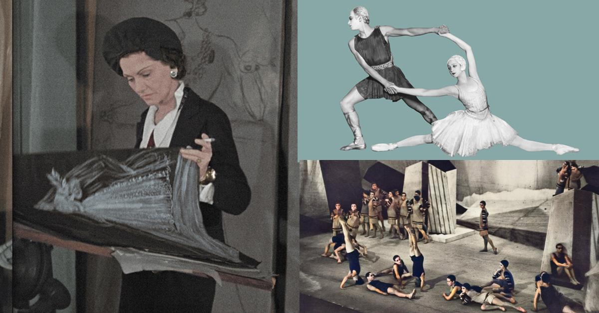 香奈兒女士創作靈感留了一塊位置給「舞蹈」,這套「舞衣設計」一舉顛覆舞蹈界的千年傳統