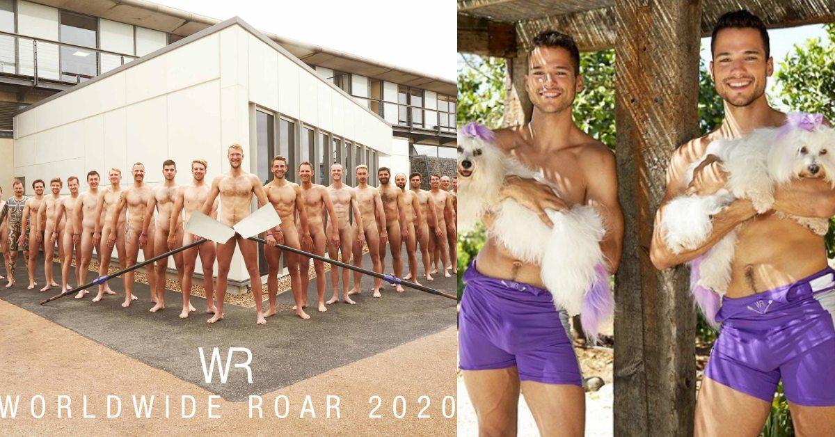 養眼的又來了!2020年英國划船隊公益月曆,全裸露出結實肌肉、翹臀讓人受不了啦!