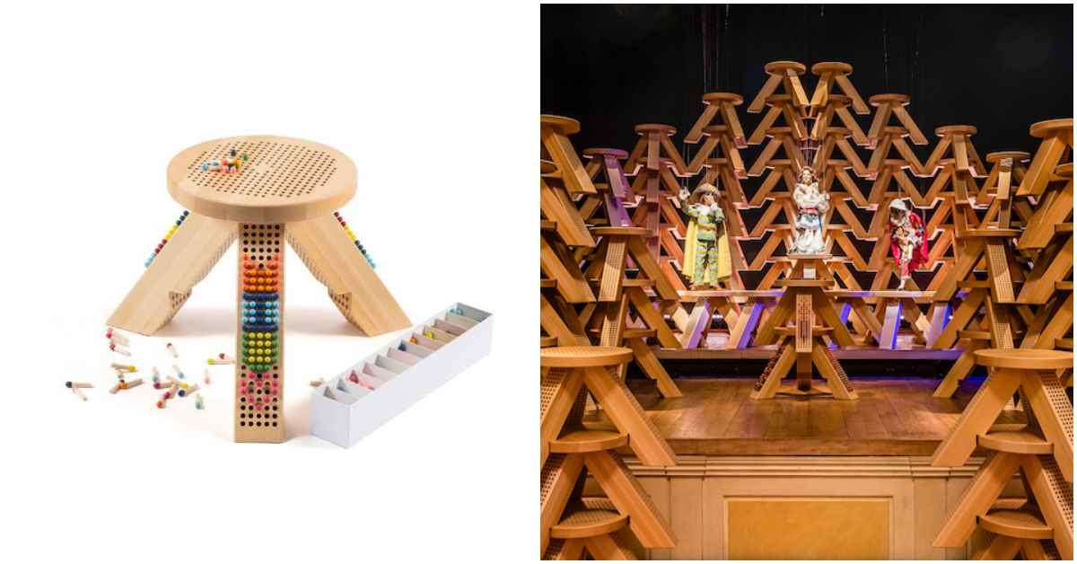 MiuMiu推出「樂高板凳」超童趣!用小火柴打造你獨一無二的座椅