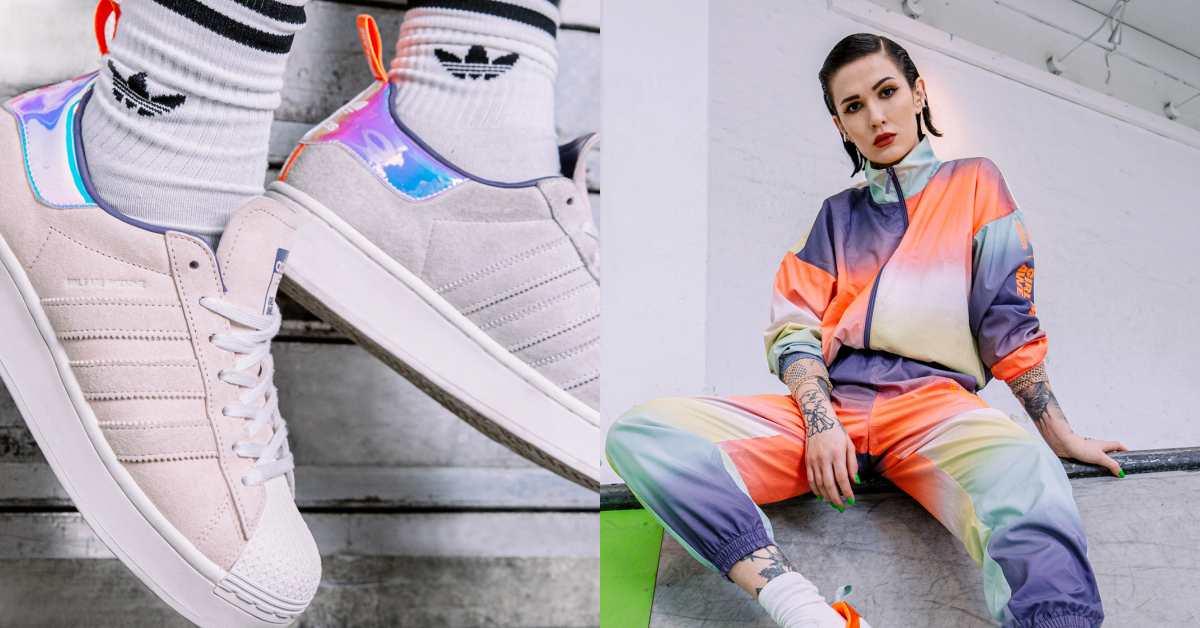 少女們準備失心瘋!Adidas這雙柔霧粉球鞋好夢幻,彩虹漸層色成套運動服運動、日常都百搭