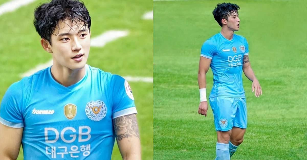 韓國帥哥再+1!22歲足球鮮肉鄭勝元「肌肉顏質」破錶,球場英姿讓小姊姊愛心刷起來
