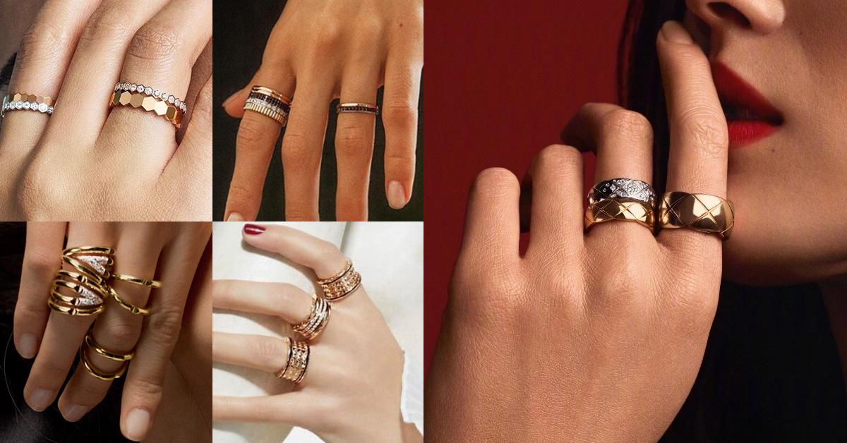 2020戒指可以這麼戴!盤點14款時髦手戒,單戴或是十指都戴各有風情!