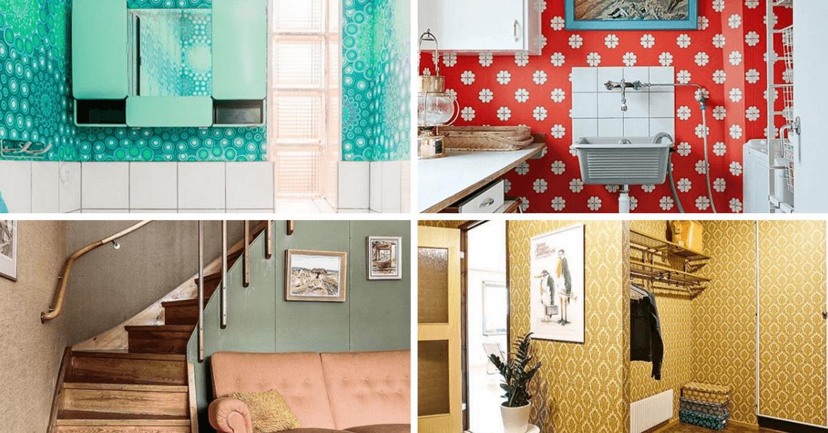 冬天好灰暗?來點北歐可愛懷舊風吧! 粉紅浴室、華麗壁紙、粉藍瓷磚……這些點子超迷人