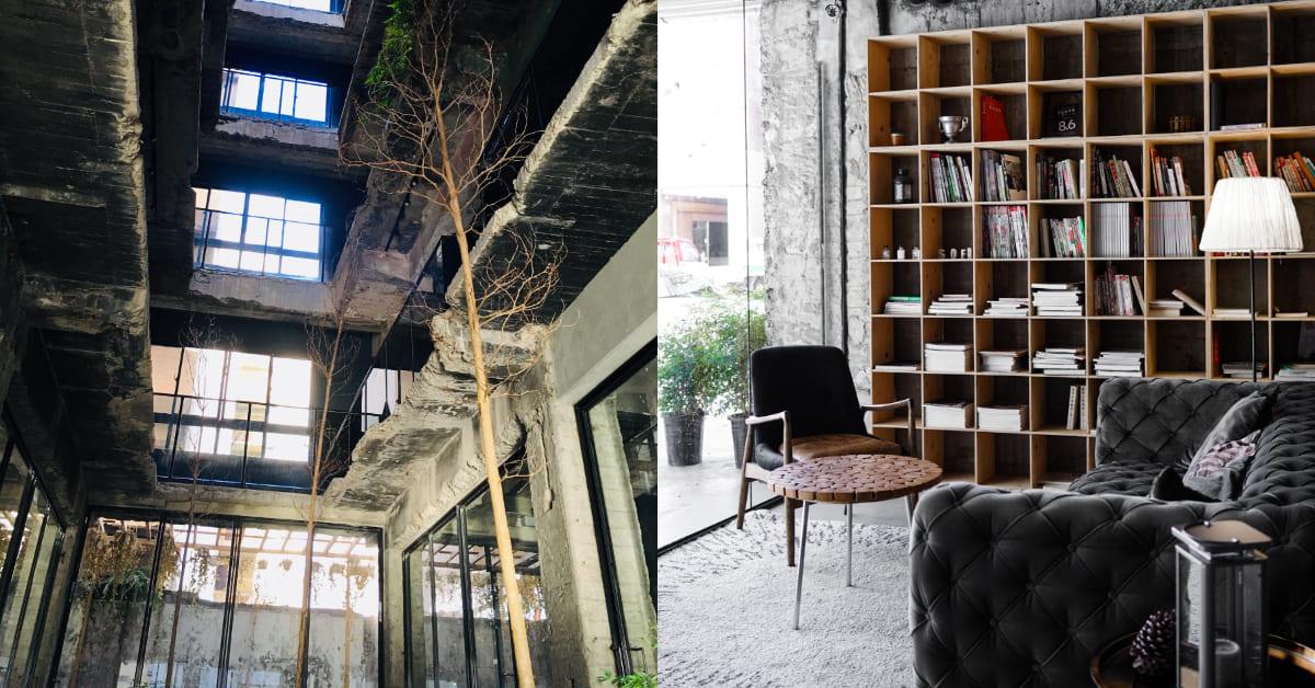 """台中飯店「植光花園」曾經是""""廢墟""""!強烈工業感建築,沒有屋頂,有的是陽光及綠意"""