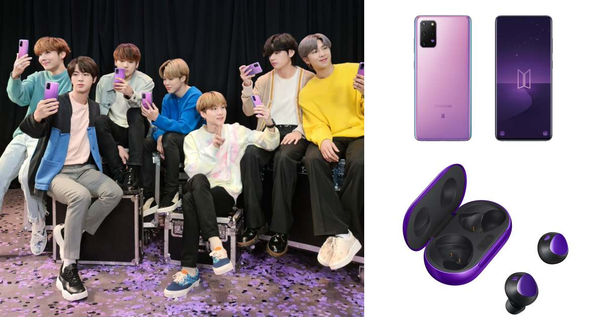 Samsung攜手BTS防彈少年團推新機,絕美紫色、藍芽耳機3大亮點,跟BTS連線就靠它!
