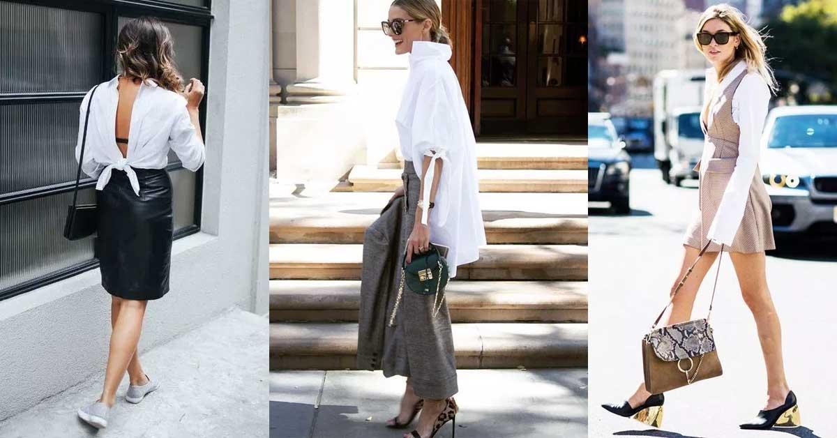 夏天如何穿白襯衫怎麼穿才有型?反著穿露美背才性感!