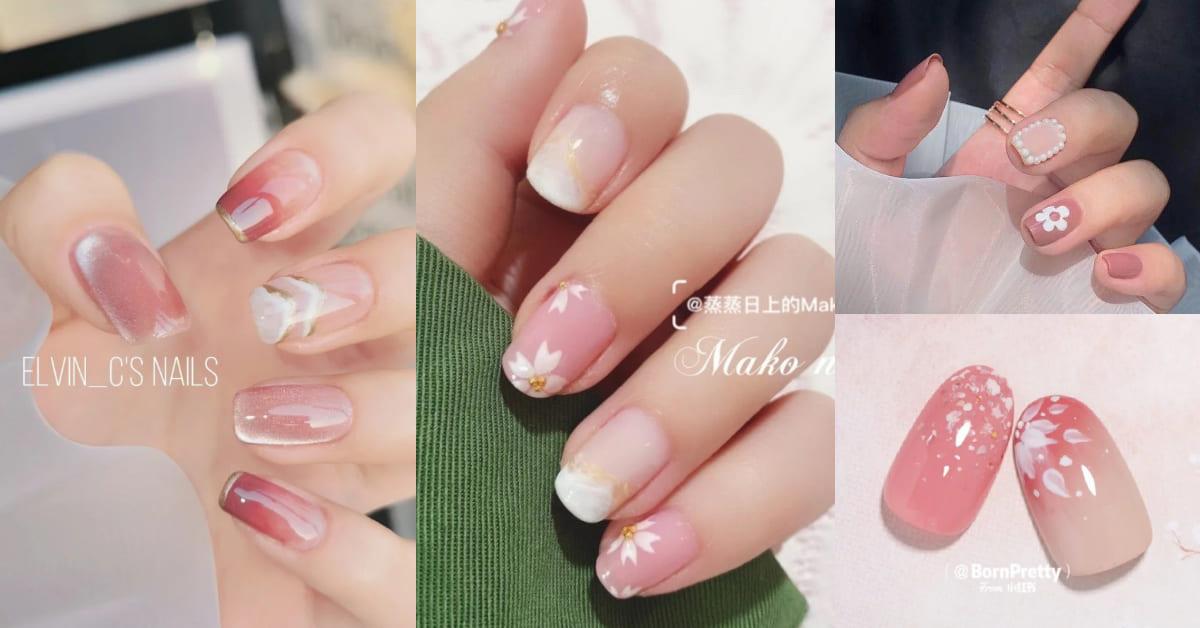 光療指甲推薦「櫻花粉」!4款粉色造型趨勢,春夏招桃花率突破200%