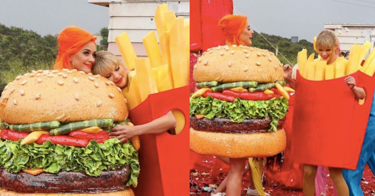 漢堡與薯條是絕配!曾經的「閨蜜」凱蒂佩芮與泰勒絲變裝世紀合體:和好啦!