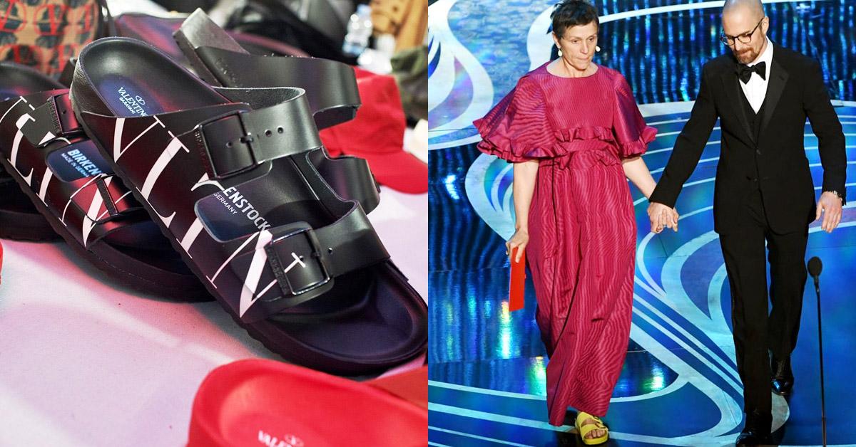 原來Valentino與勃肯鞋聯名,竟是因這位「奧斯卡影后」典禮穿搭促成?