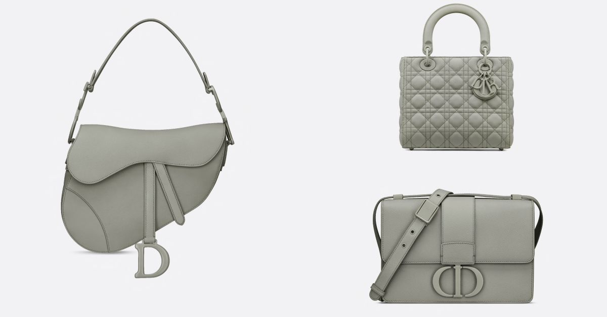 Dior特殊配色包被問爆?2020春夏夢幻色「粉霧灰」包款真的太迷人啦!