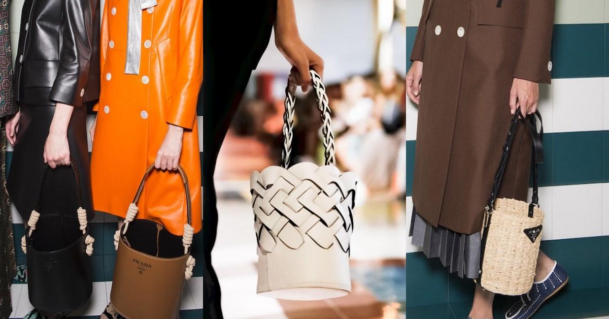 Prada 下一個必買包款是它?米蘭時裝周推出的這款「水桶包」真的太可愛!