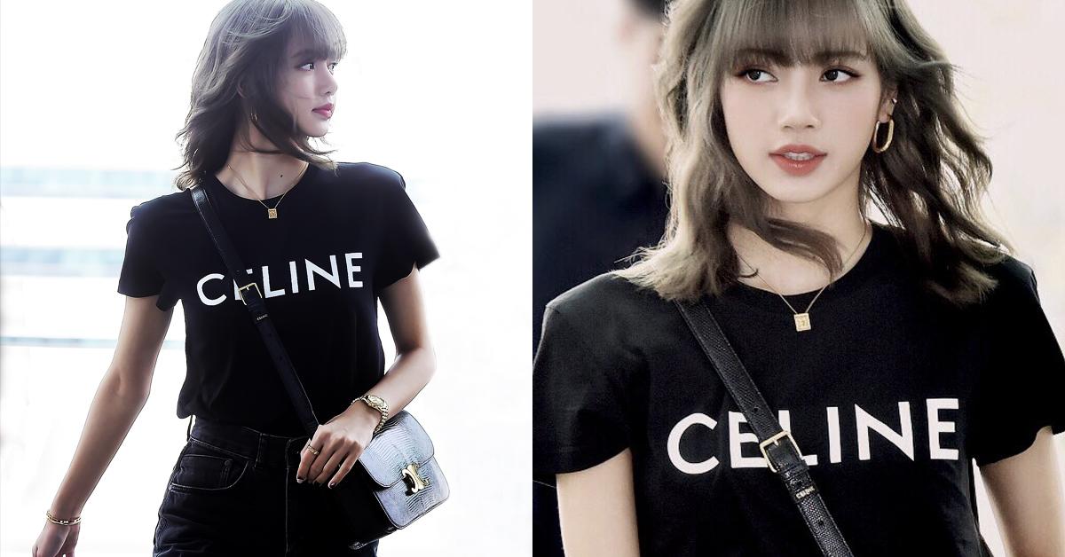 這件Logo上衣很可以!韓團Blackpink的Lisa示範Celine帥氣搭配術