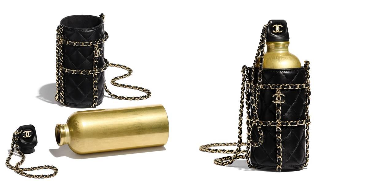 Chanel推出要價17萬的菱格紋、鏈帶奢華水壺!網友:「喝進嘴裡的是時尚」