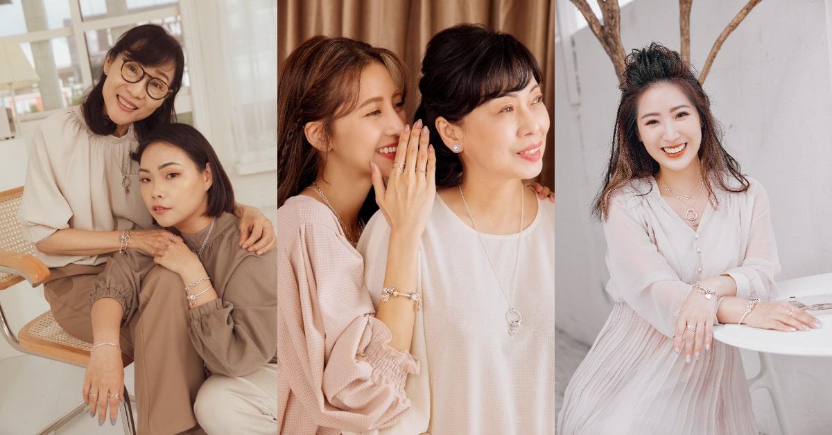 Pandora珠寶母親節就買這4款 !見習網美小吳Yoyo偏好素雅路線,時尚KOL妍安最愛和媽媽穿出奢華感!