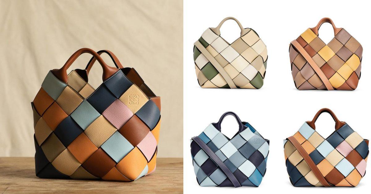 "Loewe包包推薦「Woven Basket」 !多色彩寬版編織包,蘊含環保概念,每一款""都只有一個""!"