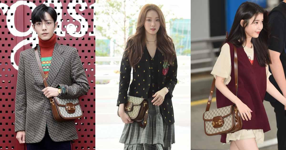 買Gucci這款復古包跟男友可以一起背!看IU、李聖經跟鮮肉肖戰的穿搭示範