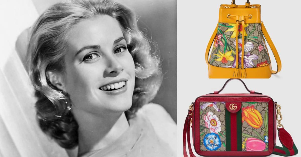 Gucci新包是仙女在背的!葛麗絲凱莉王妃專屬圖案變水桶包、托特包超浪漫