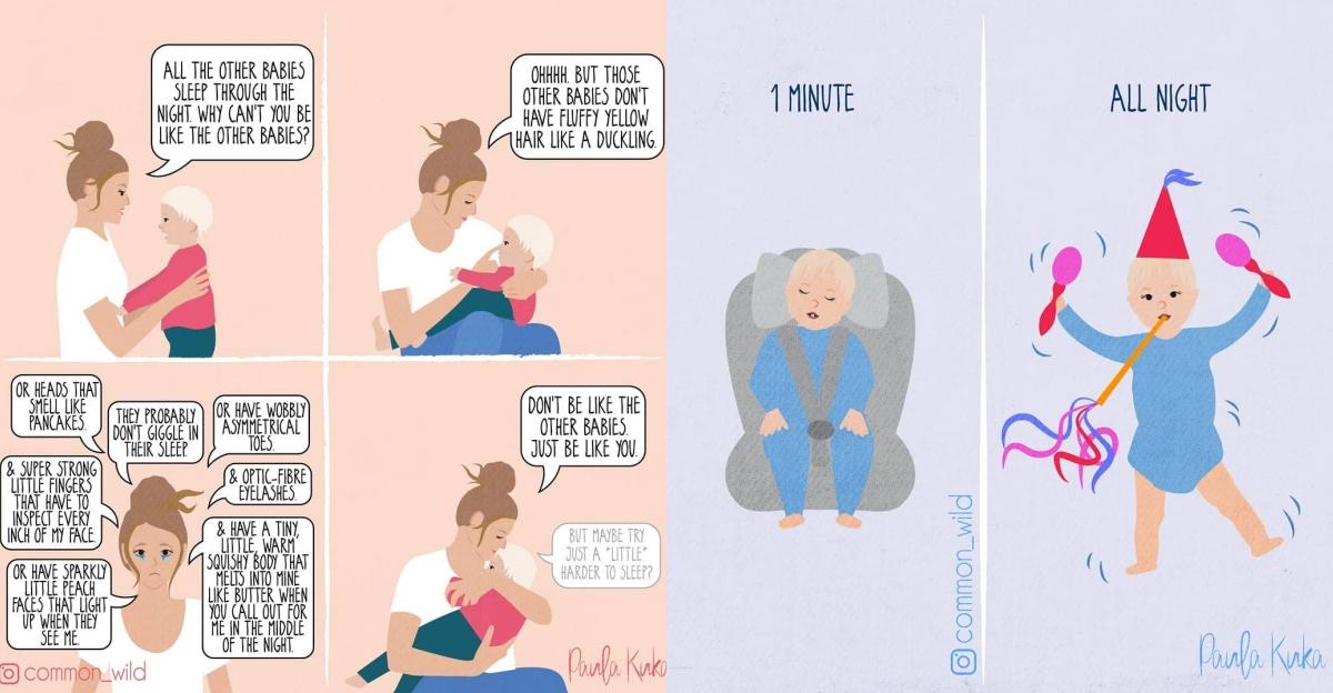 孩子就是半獸人啊!澳洲媽媽用IG插畫紀錄「當媽一定懂」的搞笑育兒日常