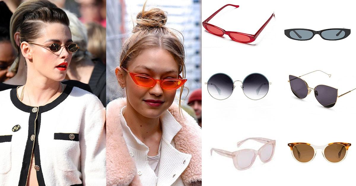 今夏太陽眼鏡怎麼挑?輕裸透視、亮彩貓眼、復古婆婆感,好萊塢名人教妳這樣戴