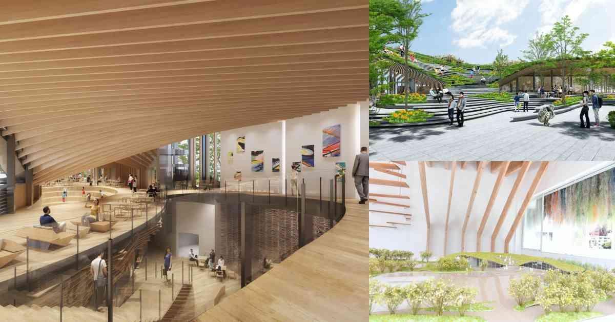 台中勤美術館2023正式開幕!日本建築大師隈研吾繼花蓮貨櫃屋後新作,將「森林」蓋在屋頂上!