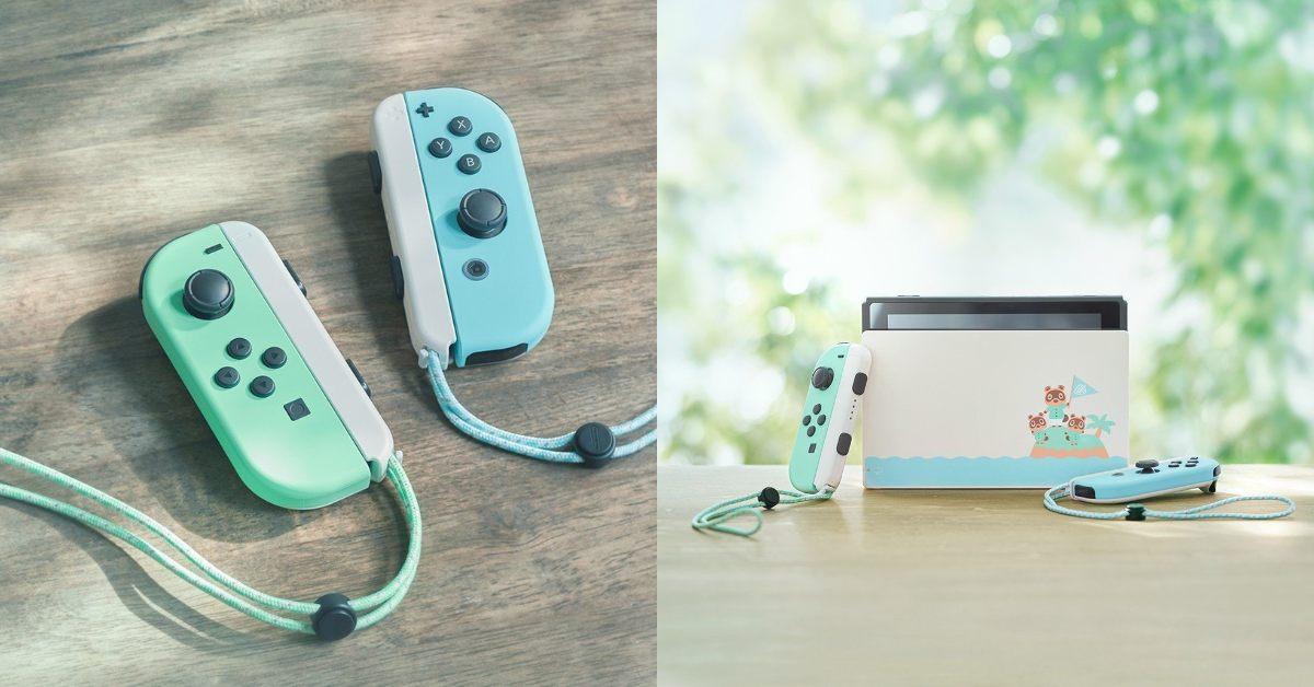 任天堂Switch推「湖水綠」限定版主機!馬卡龍配色、《動物之森》文青風插畫攻佔少女心
