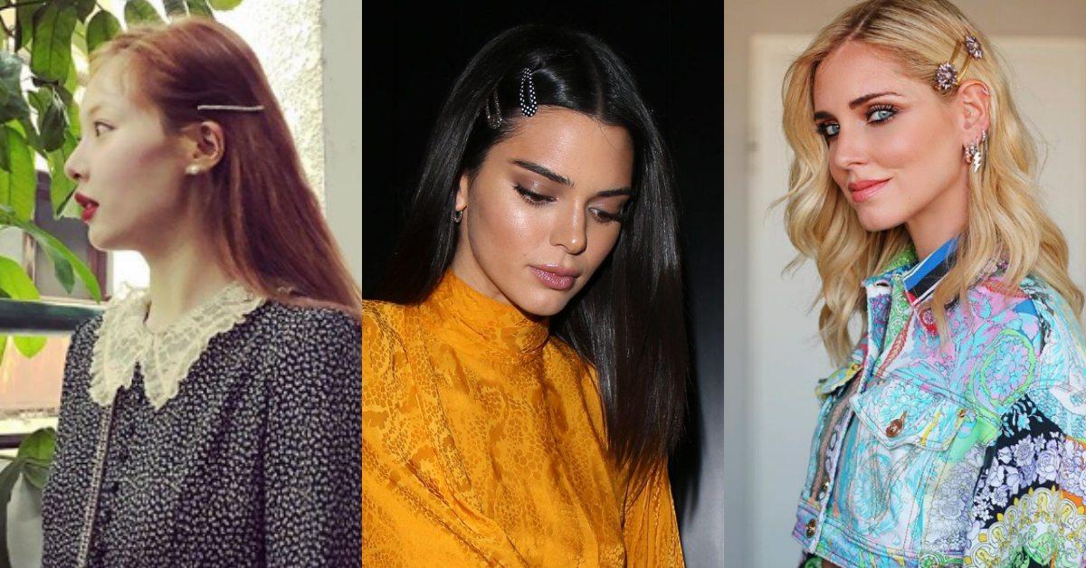 「老氣髮夾」是2019最時髦的飾品!泫雅、艾瑪史東、Chiara Ferragni都在用