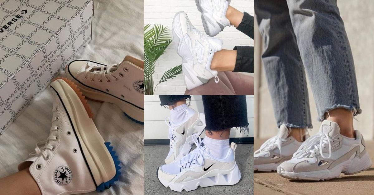 2020年度必收4大「厚底小白鞋」!一穿激增五公分的美腿神器,找到你的命定款